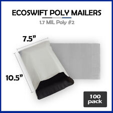 100 75x105 Ecoswift Poly Mailers Plastic Envelopes Shipping Bags 17mil