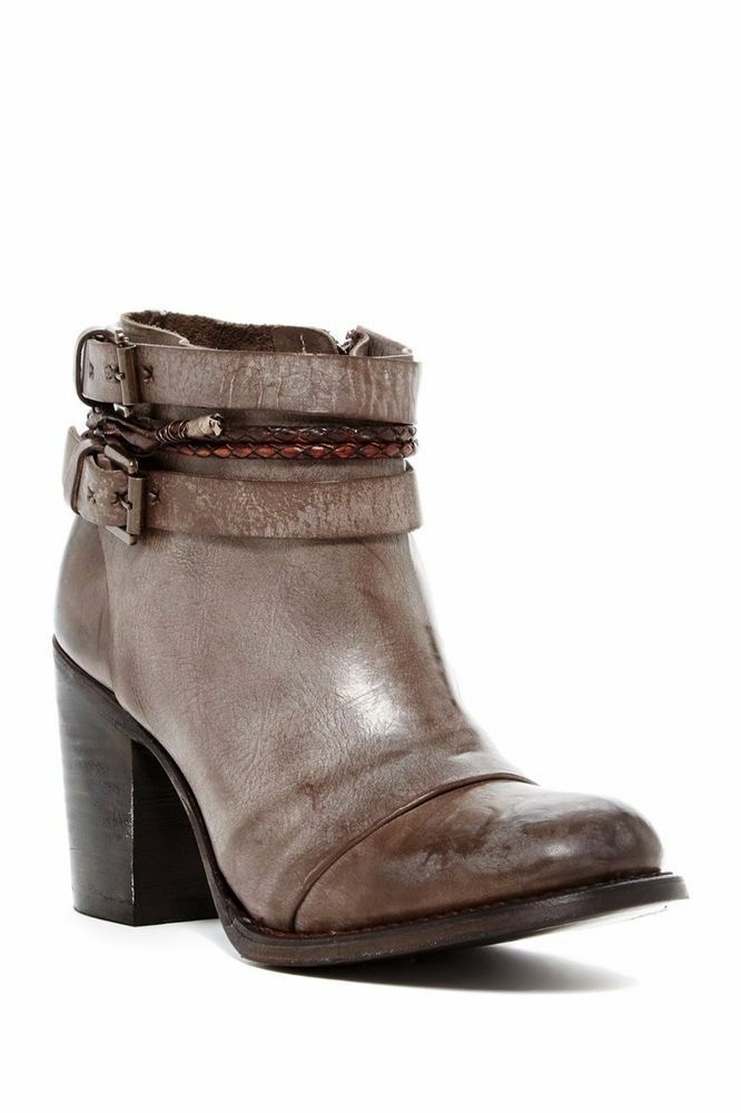 300 Freebird By Steven Lion BURNISHIED DISTRESSED GREY Leather Leather Leather Boot 9 (3) (W11) a38b6c