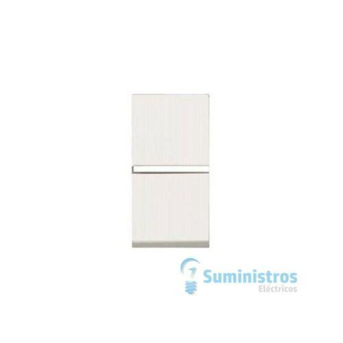 Conmutador de cruzamiento estrecho Niessen N2110 BL serie Zenit color blanco