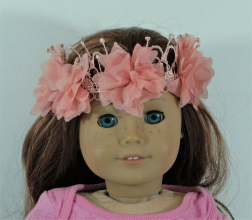 Peach Flowers Headband For 18 in American Girl Doll Accessories Clothes