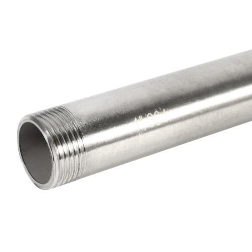 200mm Edelstahl BSP-Außengewinde Rohradapter Rohrverschraubung Rohrverbinder
