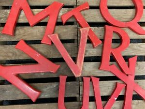 ... Style Vintage Rouge Lettres Maison Magasin Decoration Murale