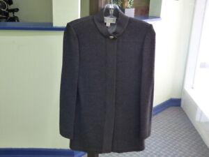 St-John-Collection-By-Marie-Gray-Dark-Gray-Santana-Knit-Full-Zip-Sweater-Size-0