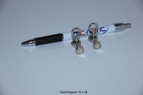 6 Stück Neodym Ösenmagnete Magnet Ösen Suchmagnet 10 mm vernickelt sehr stark