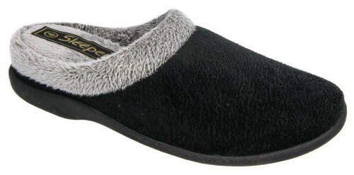 Sleepers Ladies Mule Slipper In Black Size Eu37