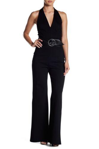 Soprano Halter Sleeveless V Neck Black Jumpsuit Sz XS NWT P2483RK