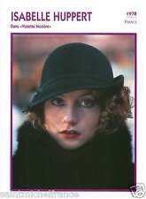 2.ISABELLE HUPPERT ACTRICE ACTRESS FICHE CINEMA FRANCE 90s