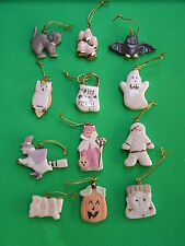 LENOX HALLOWEEN TRICK or TREAT 12 miniature Tree Ornaments set NEW in BOX witch