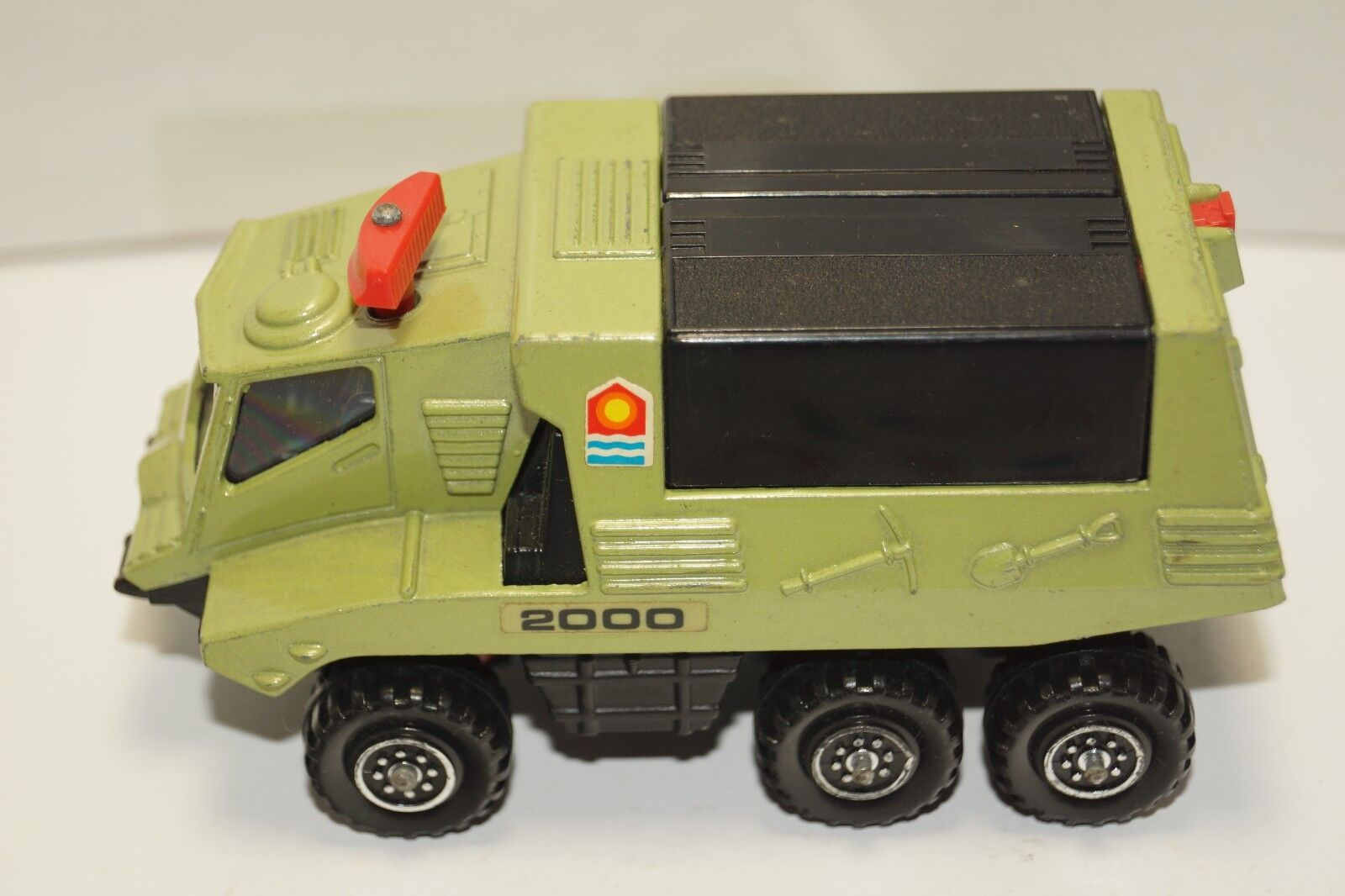 Original MATCHBOX-Battle Kings-K-111 - lance-missiles-couleur verte
