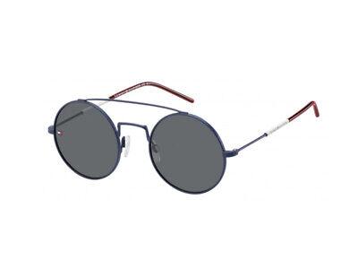 2019 Moda Occhiali Da Sole Tommy Hilfiger Th 1600/s Metallo Blu Rosso Grigio 4e3/ir