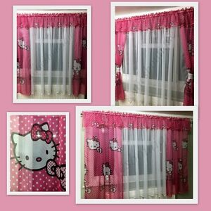 hello kitty beautiful ready made children voile net. Black Bedroom Furniture Sets. Home Design Ideas