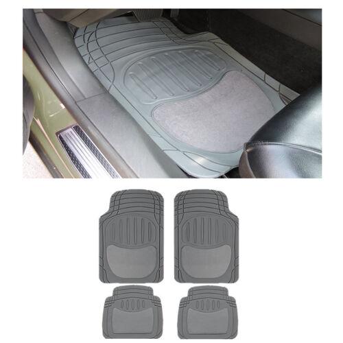 Sedan Gray Grey Front /& Rear Utility Semi-Carpet Rubber Floor Mats Set 4 pc XS
