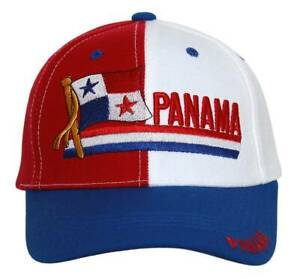 Republic-Of-Panama-Adjustable-Hat-White