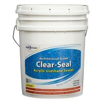 Rainguard Clear-seal Low Gloss Urethane/acrylic Sealer 5 Gal Concrete Wood Brick