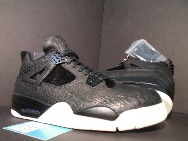 Nike Air Jordan IV 4 Retro PREMIUM PINNACLE PONY HAIR BLACK WHITE CEMENT NEW 9.5