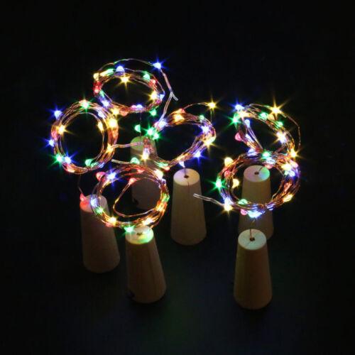 Batteriebetrieb,Weinflasche Licht 15er LEDs Lichterkette Draht Micro mehrfarbig