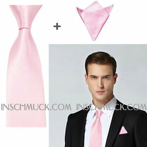 F16-2-Teile-Herren-Krawatte-mit-5-cm-Breite-Einstecktuch-Business-Hochzeit-8