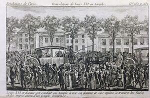 Louis-16-et-Marie-Antoinette-au-Temple-1792-Rare-Gravure-Revolution-Francaise