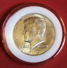 1964 KENNEDY HALF DOLLAR BU CONDITION FROM ORIGINAL BANK ROLL IN CAPSULE