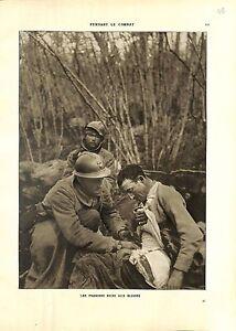 WWI-Bataille-de-la-Marne-Poilus-Soldats-Blesses-Infirmier-Soins-A-ILLUSTRATION