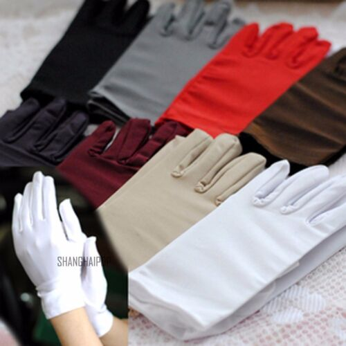 2 Pairs Women//Men Parade Dance Gloves Jewelry Handle Military Inspection Wedding