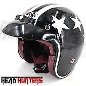 Head-Hunters-ZEBRA-FF805-Vintage-Half-Face-Motorcycle-Helmet-Multicolor