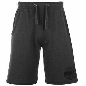 Lonsdale-Lightweight-Sweat-Shorts-Mens-Charcoal-Sportswear-Short-Boxing-MMA