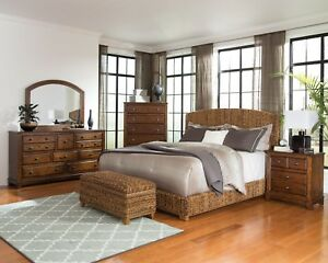 Details About Coaster Fine Furniture Laughton Queen 6 Piece Bedroom Set  Woven Banana Leaf