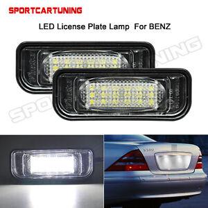Weiss-LED-Kennzeichenleuchten-Lichter-Fuer-Mercedes-Benz-W220-S-Klasse-A2208200356