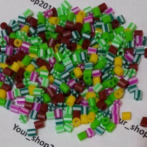 200 PCS DIY Fuse Tube Beads Refill Art Craft Kids Funny Toy Gift Mixed Colours