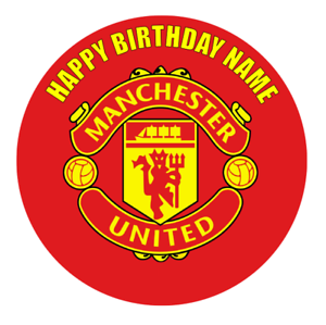 Stupendous Manchester United Personalised Edible Birthday Cake Decoration Birthday Cards Printable Nowaargucafe Filternl