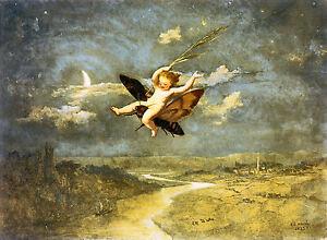 MOON FAIRIES. Fairy/Pixie Mythology Vintage Decorative Poster A1A2A3A4Sizes Art