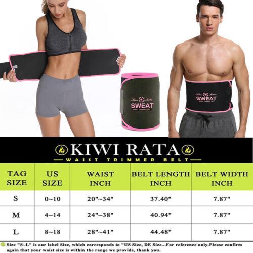 UK Waist Trimmer Sweat Sauna Men Women Neoprene Belly Fat Slimming Back Support