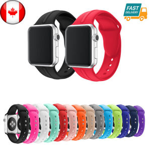 For-Apple-Watch-Band-42mm-38mm-Silicone-Band-Strap-M-L-Various-Colors