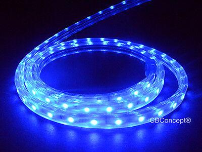 CBConcept® UL Listed,13 Feet,1400 Lumen,Blue,120 Volt Flat LED Strip Rope Light
