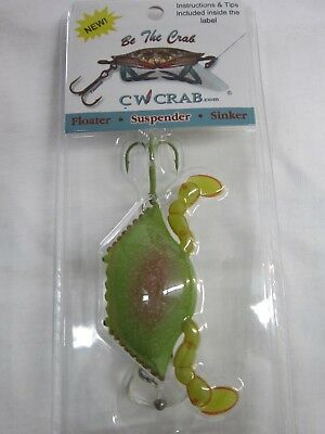4x Fishing Lures Fake Bait Crab with Sharp Hook Lure Sea Tackle Bait