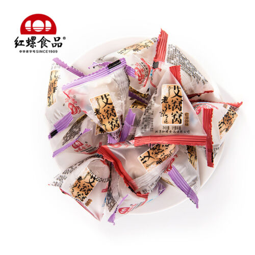 Chinese Food Snacks Beijing Specialty Mochi休闲小吃 北京特产 传统糕点甜食麻糬 红螺食品 混合口味 艾窝窝500g