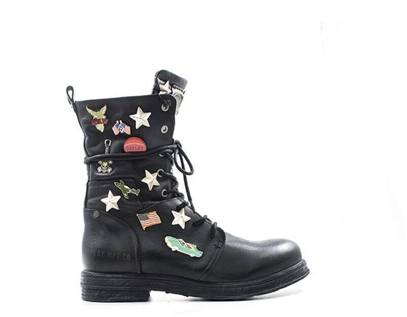 Zapatos señora señora señora Replay negro naturaleza cuero rl260044l-ne  punto de venta barato