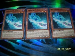 3x staff of the Magician LED6-DE008 LEDD-DEA05 Playset Top Magician Yu-Gi-Oh