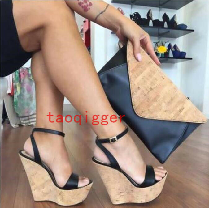 Summer Beach Casual femmes High Wedge Heel Platform Sandals Party Plus Sz chaussures