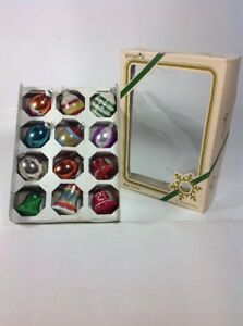 12-Vintage-European-amp-USA-Hand-Blown-Glass-Tear-amp-Bell-Christmas-Tree-Ornaments