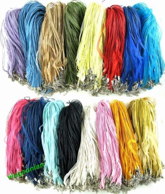 100Pcs/Lot Wholesale Pretty Craft Gauze Voile String Necklace Cords 20 Colors