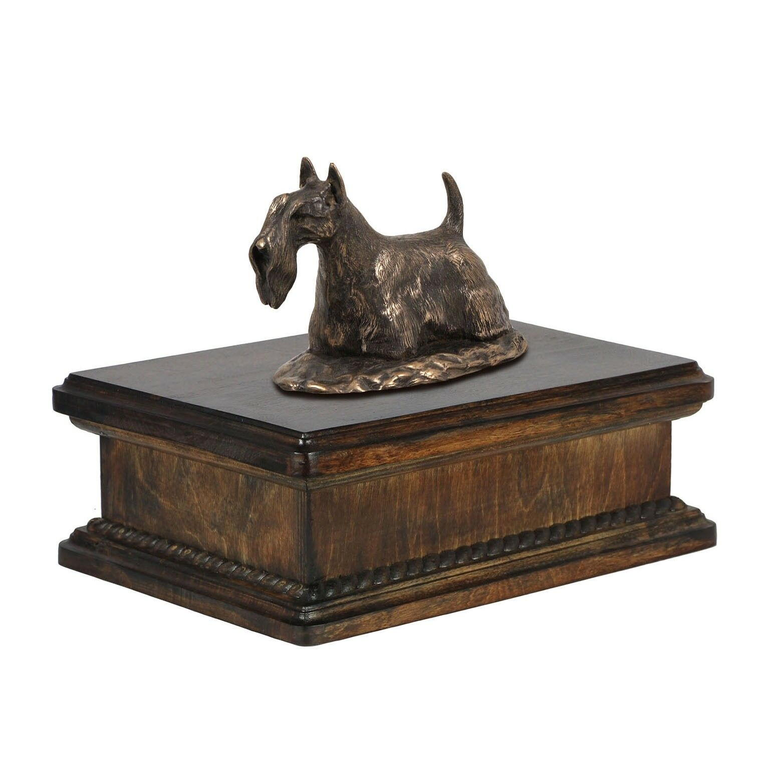 Scottish Terrier - exclusive urn with dog statue, High Quality, Art Dog