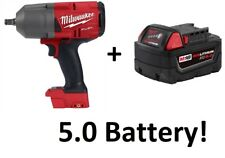 "Milwaukee 2767-20 M18 FUEL 1/2"" Drive Impact Wrench Gun with 5.0 Battery!"