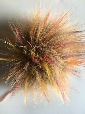 rosa 13cm Fellbommel längeren Haaren NEUHEIT!!!! hellblau