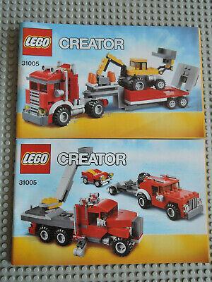 Instruction Creator 31005    2 Hefte LEGO Bauanleitung