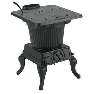 Heater cook stove cast iron 1 000 sq ft 60 000 btu ebay for Cooks heating and cooling