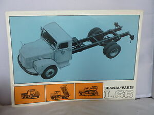 Scania-Vabis L66 Sales Leaflet - Specifications etc - French