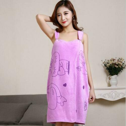 Fast Drying Wearable Bath Towel Women Shower SPA Wrap Body for Bathroom Bathrobe