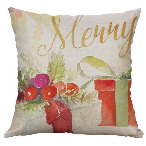 New Cotton Linen Christmas Love car Home Decor Printing Cushion Cover pillow cas